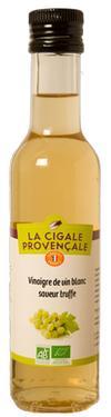 Vinaigre de Vin Vieux Blanc Biologique saveur Truffe  - 6 % d'Acidité La Cigale Provençale