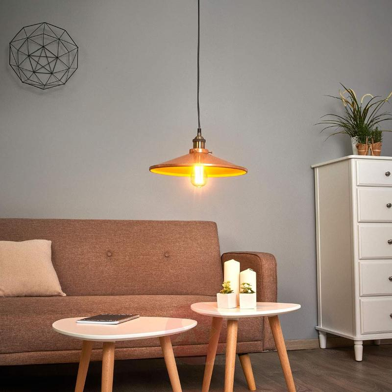 Copper Victor Pendant Lamp with Aluminium Shade - Pendant Lighting