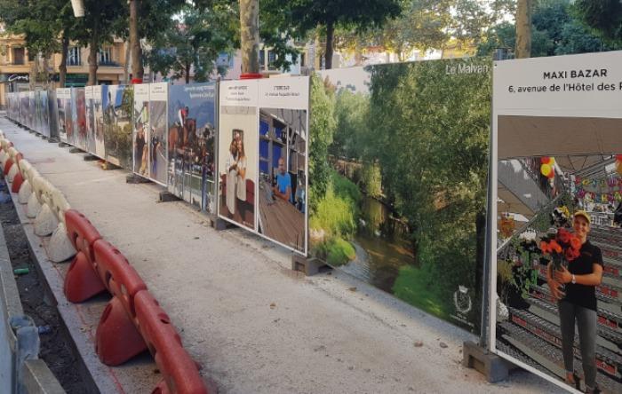 Palissades de Chantier avec les plaques Diplast  - Plaques en Polypropylène alvéolaire