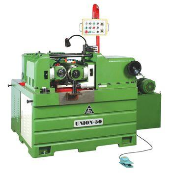 Robotic arms with Hydraulic thread rolling machine - The robotic arms are setting in the between of UM-50A thread rolling machine.