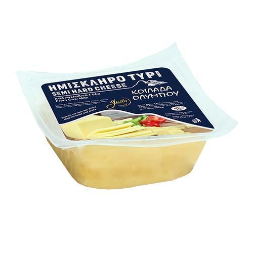 Κίτρινο ημίσκληρο τυρί - Κοιλάδα Ολύμπου