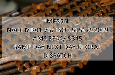 MP35N - MP35N, nickel-cobalt alloy, round bar, same day next day global dispatch