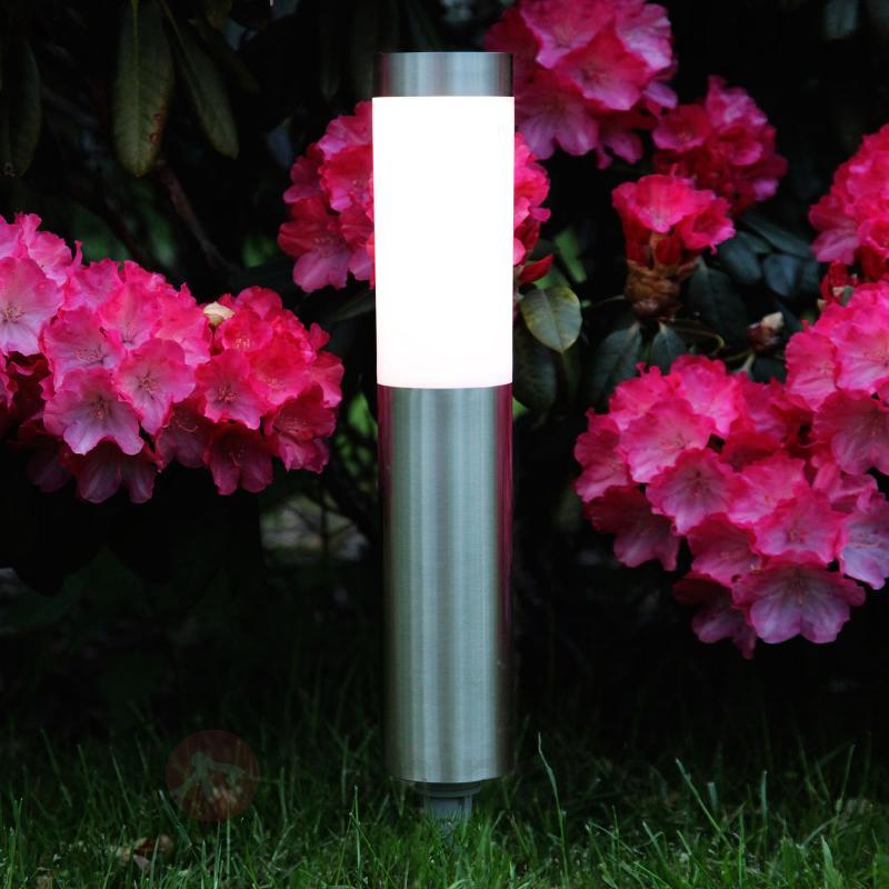 Lampe LED à piquet de forme cylindrique Freya - Lampes solaires décoratives