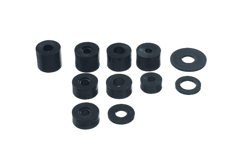 WASHERS AND SPACERS IN NEUTRAL OR BLACK PLASTIC - Professional screws