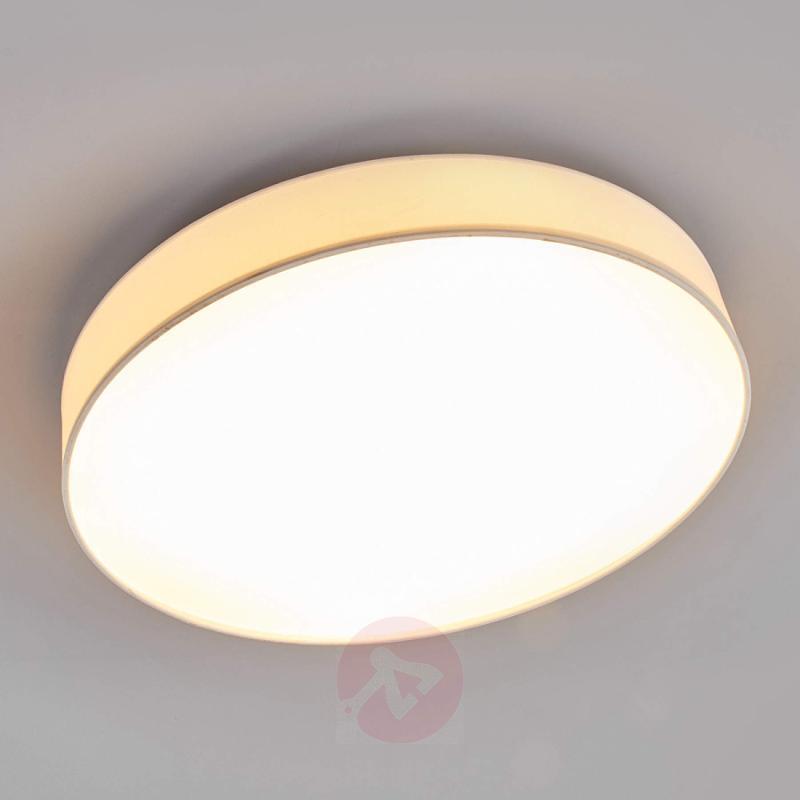 Large white fabric LED ceiling light Saira - indoor-lighting