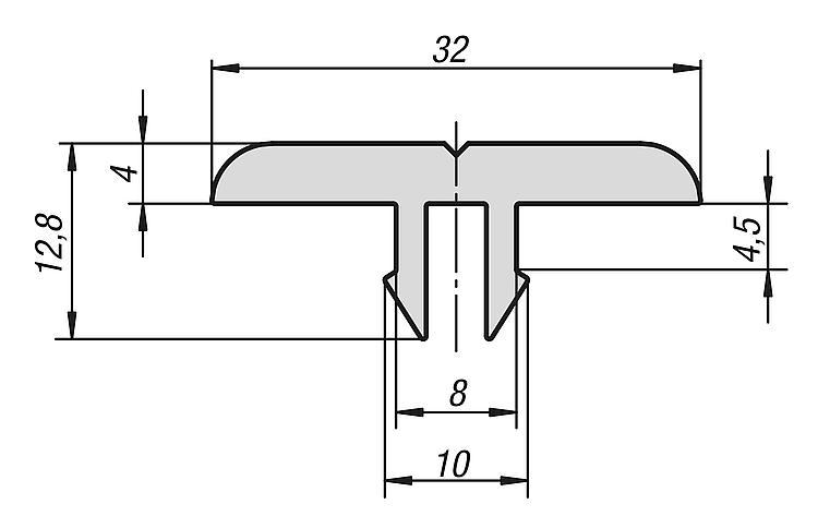 Profil De Glissement Type I - Profilés aluminium Raccords Caches Éléments spéciaux