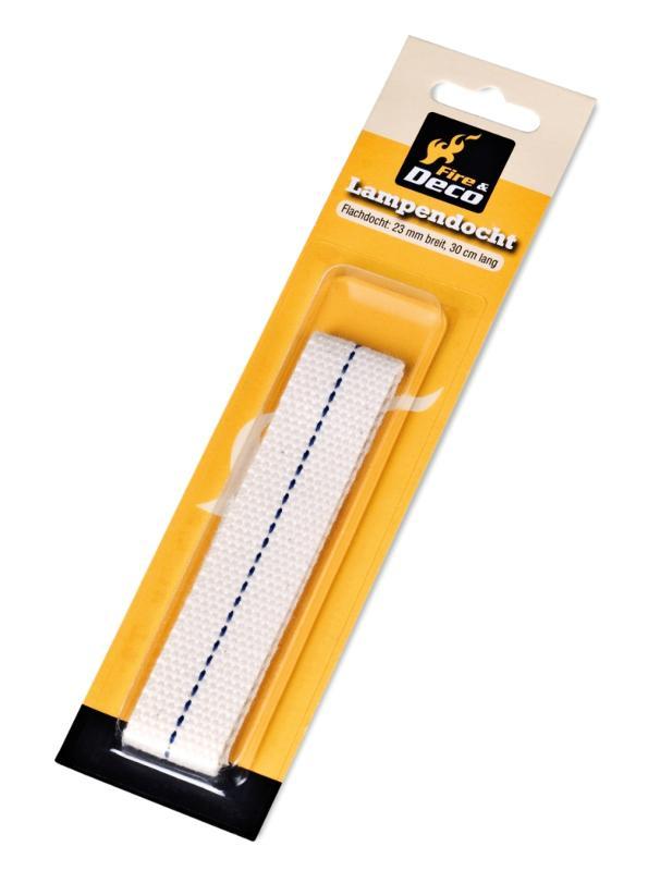 FIRE & DECO Lampendocht (flach) 23 mm breit - null