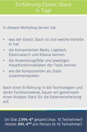 Schulung: Einführung Elastic Stack -