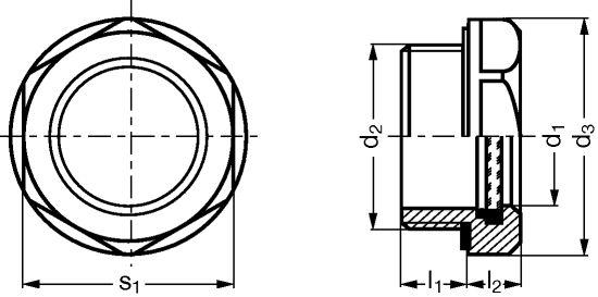 INDICATEUR DE NIVEAU D'HUILE - INOX 303 (226141)