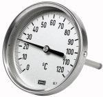 Bi-metallic thermometer, rear, L1=160 mm / L2=140 mm, 100 - Bimetallic thermometers (high-quality type)