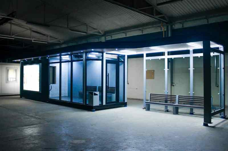 Heated bus shelter - Revolutionary new product, public transport shelters for cold climates