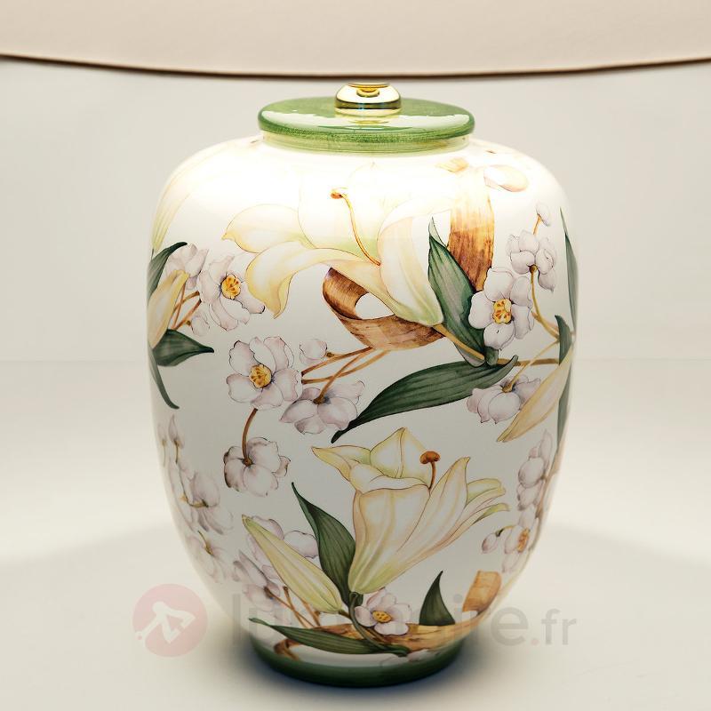 Belle lampe à poser en céramique Lys - Lampes à poser en tissu