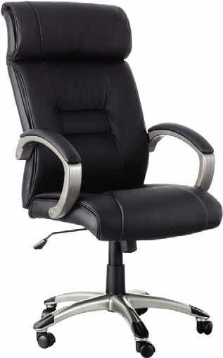 silla de oficina - Silla de oficina tapizada en simil-piel