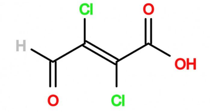 Mucochloric acid - 2,3-Dichloro-4-ketoisocrotonic acid; 87-56-9 IM for Amezinium metisulate