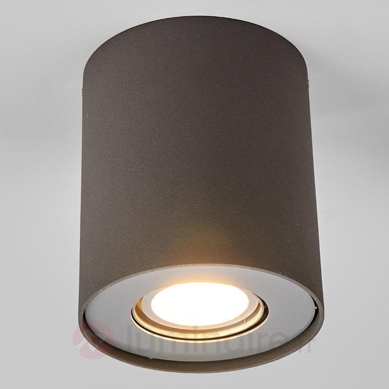 Downlight LED GU10 Giliano, aluminium - Plafonniers LED