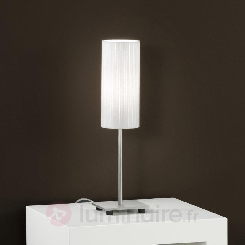 Jolie lampe à poser SONJA avec abat-jour en plissé - Lampes de chevet