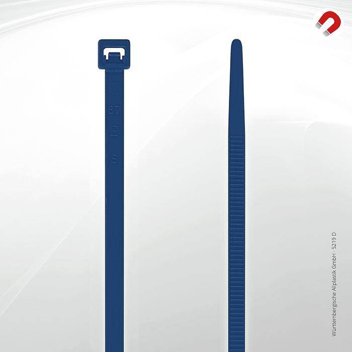 Allplastik-Kabelbinder® cable ties, detectable - 5219 D (blue)