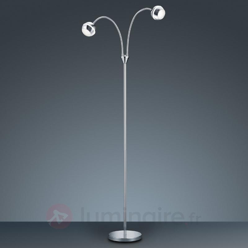 Lampadaire LED Ada à deux lampes - Lampadaires LED