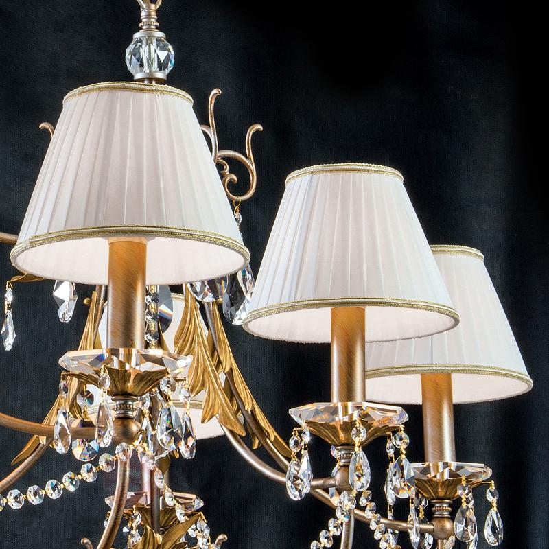 Lustre ovale Miramare à 8 lampes - Lustres à abat-jour