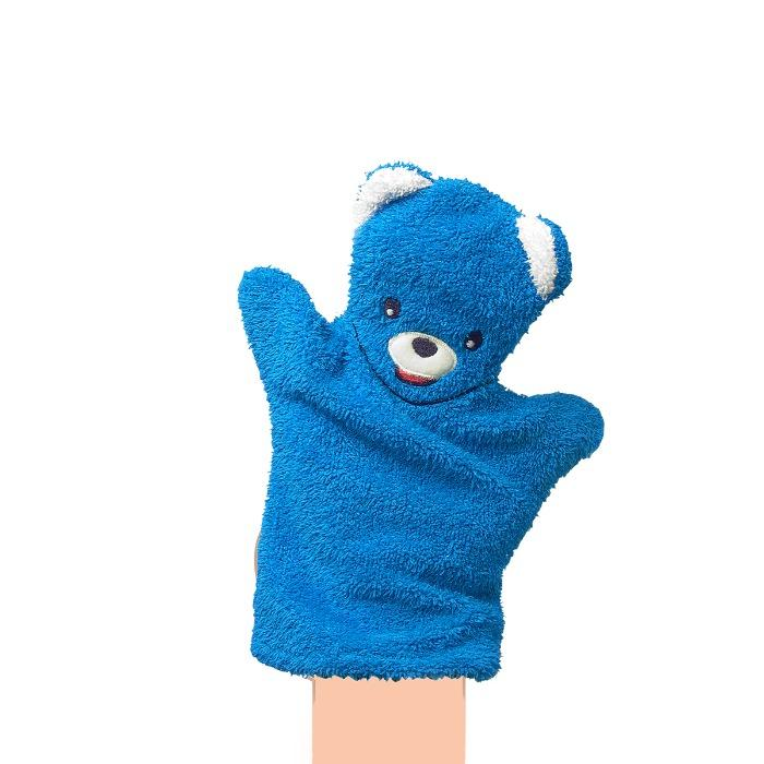 Bear Hand Puppet / Wash Cloth - polyester or cotton towel baby product
