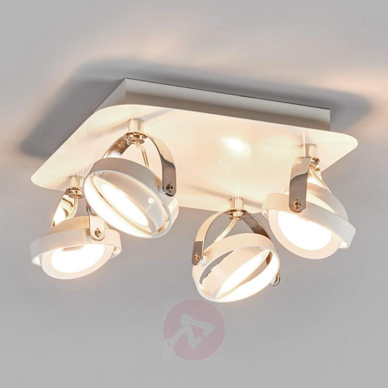 White 4-bulb LED ceiling light Marisa - indoor-lighting