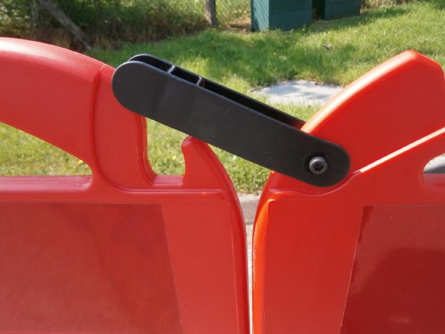 Foldable fence HDPE L 3.000 mm x H 1.000 mm - Set of 4 s ... - SIBASYST30