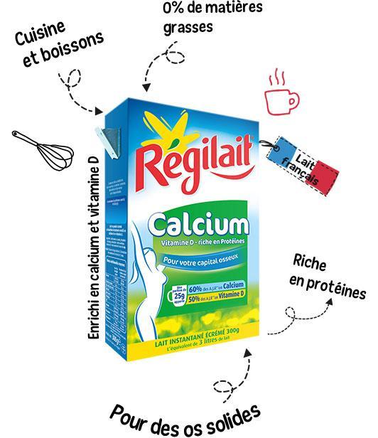 Lait en poudre - Calcium