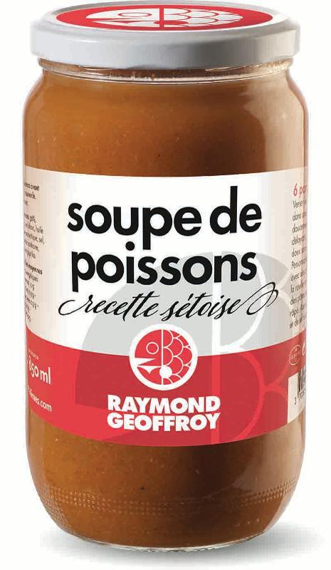 Soupe de poissons recette sétoise bocal 780g - Produits de la mer