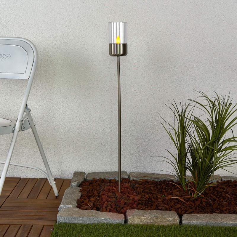 Flickering LED solar lamp Milli with ground stake - outdoor-led-lights