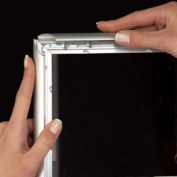Click Frames - Cadre Click bord 25 mm pour vitre