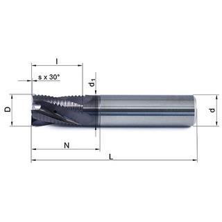 Vollhartmetallfräser VHM 448W-06 TS35 - null