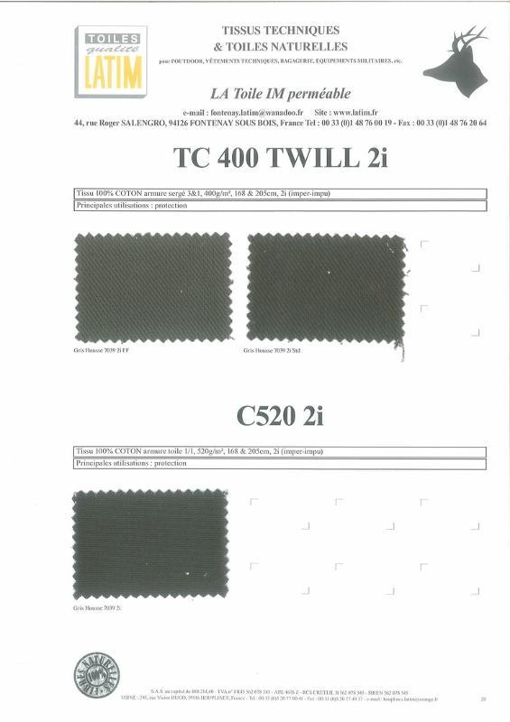 TC 400 TWILL 2i & C50 2i - Toiles naturelles