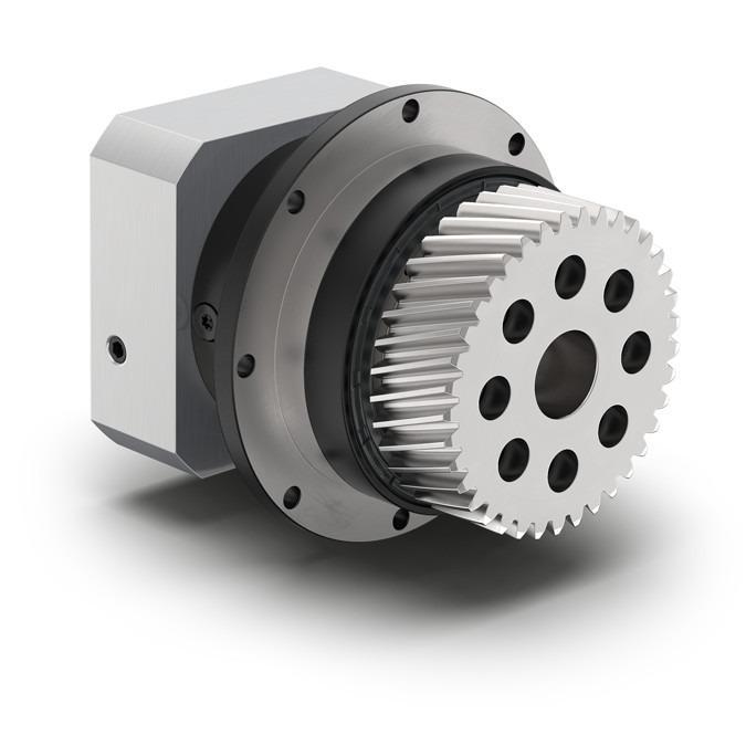 Planetengetriebe mit montiertem Ritzel PFHE - Economy Getriebe mit Abtriebsflansch - Geradverzahnt - IP65 - NEUGART