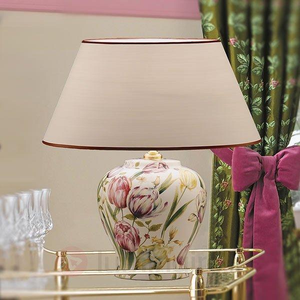 Lampe à poser Living inspiration florale - Lampes à poser classiques, antiques