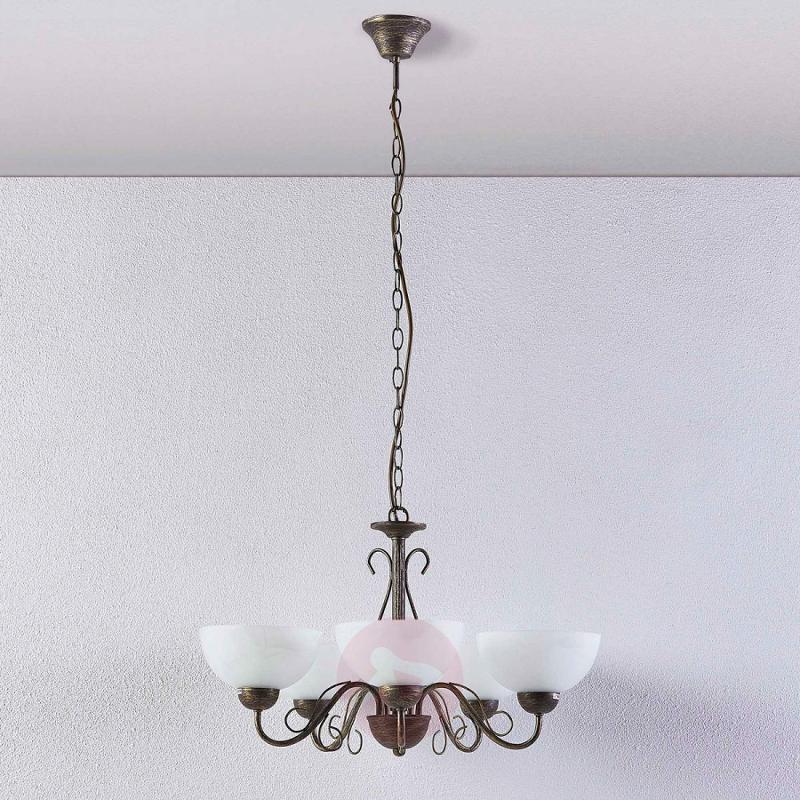 Dining room pendant lamp Mohija, 5 bulbs - indoor-lighting