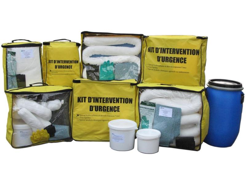 Kit d'intervention antipollution - kits absorbants... - Kit anti-pollution absorbant