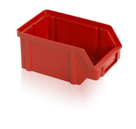 Plastic storage boxes - Storage box PP 2 kg - red