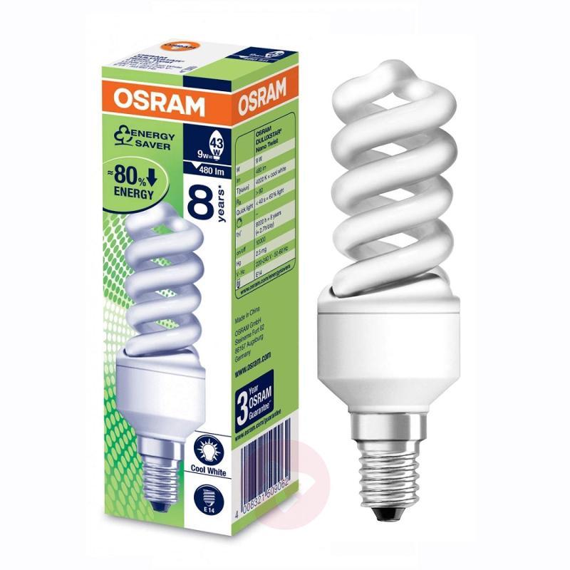 E14 9W 840 energy-saving bulb spiral - light-bulbs
