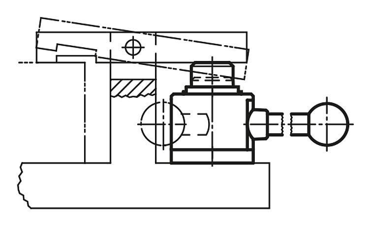 Vérin à levier gauche et droite - Crampons, mors de serrage, vis et écrous de serrage