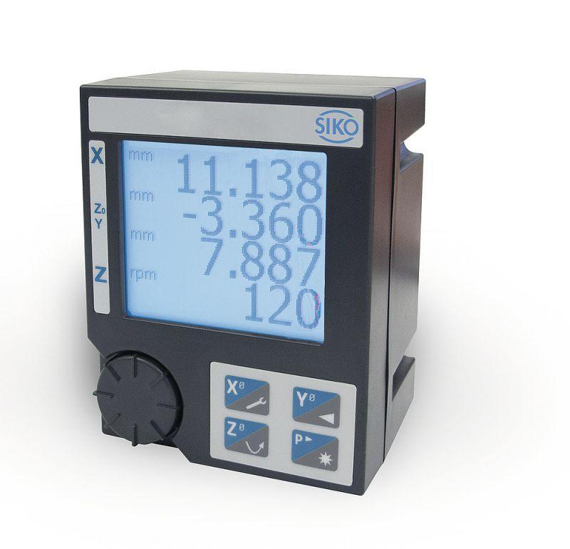 测量显示器 MA523/1 - 测量显示器 MA523/1, 带转数功效的紧密型三轴指示器