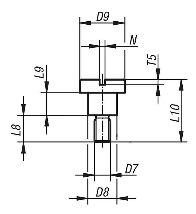 Shoulder Screws Flathead For Din 173 Drill Bushes - Drilling jigs Drill bushes Jig elements