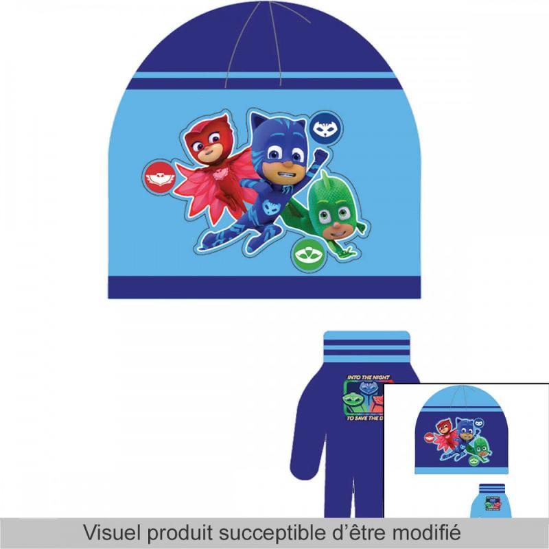 3x Bonnets et gants PJ Masks - Bonnet Gant Echarpe
