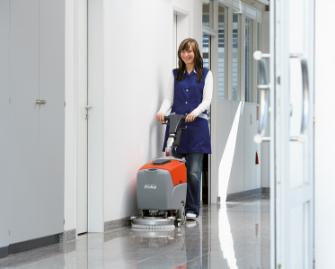 Scrubmaster B12 - Walk-behind scrubber-drier for small areas