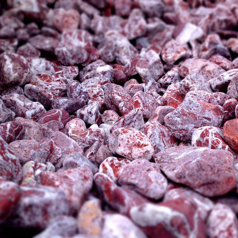 Sac de galet decoratif - Galet marbre Rouge Royal