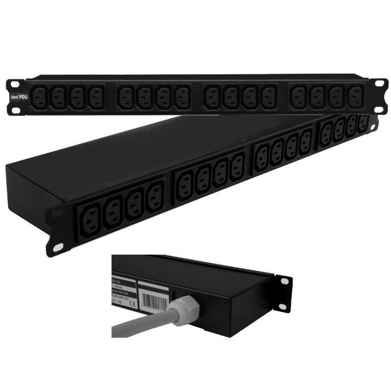 """PDU Multipresa 19"""" 1HE Serie VDE IEC -3C139-1284-032"""