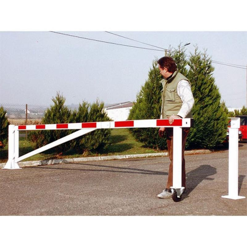Barrière de parking pivotante sur roulette - Aménagement parking
