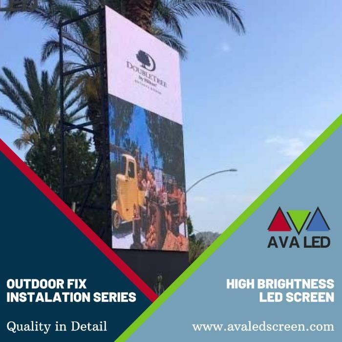 Zunanji nepremočljiv LED zaslon serije TN-OF - Totem in plakat AVA Led zaslon
