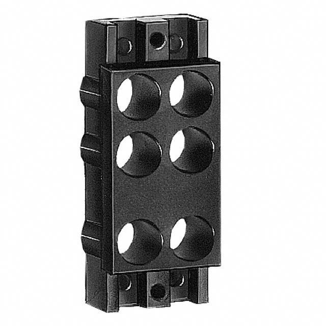 PANEL MOD JACK TT 4OPENING BLACK - Switchcraft Inc. TT93602