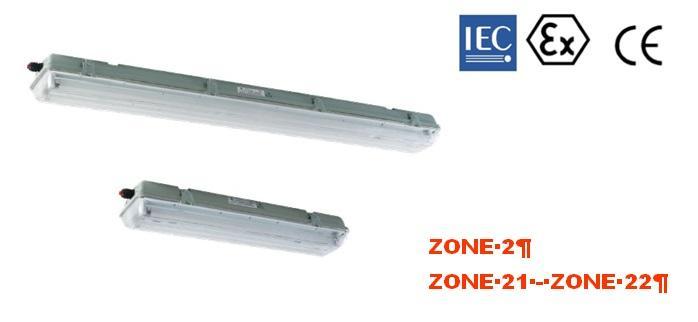 Luminaire à Sécurité Augmenté ATEX IP66 à éclairage Leds