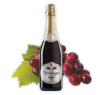 Boisson sans alcool pétillante à base de raisins rouges
